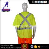 camisa reflexiva da segurança da forma