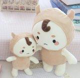 韓国のかわいいプラシ天の柔らかい人形のおもちゃ