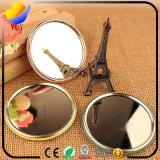 O espelho cosmético pequeno portátil bonito e o espelho com o espelho cosmético do círculo dos desenhos animados e o HD escolhem o espelho da composição da face