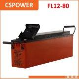 FT12-80 batterie d'acide de plomb terminale avant 12V80ah pour l'énergie solaire