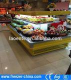 Охладитель открытой выкладки занавеса ночи 4 сторон круглый для фрукт и овощ