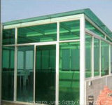 ASTM 기준을%s 가진 녹색 PVB 박판으로 만들어진 유리