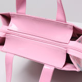 Pink Waterproof PVC Heart-Shaped Shopping Bag (H032)
