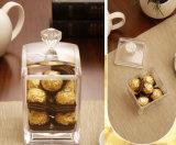 Rectángulo de acrílico claro helado del sostenedor del té