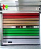 Porta exterior automática espiral de alumínio de indicador de alumínio de Porta Persiana (Hz-FC0280)
