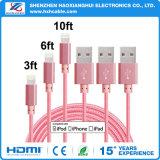 iPhone USB 케이블을%s 땋아지는 분홍색