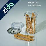 commercio all'ingrosso rotondo del vaso dell'animale domestico 650ml con la radura di plastica del vaso dell'animale domestico della bottiglia libera di plastica di alluminio del vaso