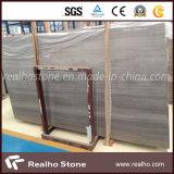 Деревянный серый/серый мраморный сляб для панели стены ливня