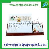 Calendario de escritorio promocional de la impresión de la impresión a todo color del papel especial