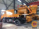 L'arbre diesel et électrique de Qjhbt40c double a forcé le mélangeur concret monté par camion avec la pompe