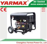 Yarmax 열린 구조 단일 위상 6kVA 6kw 디젤 엔진 Genset 전기 발전기