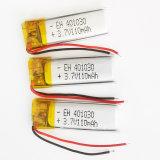 batteria ricaricabile dello ione di Lipo Li del polimero del litio di 3.7V 110mAh 401030 per la cuffia di DIY MP3 MP4 MP5 GPS PSP Bluetooth