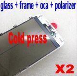 4 в 1 объективе переднего экрана стеклянном с поляризатором Oca рамки на iPhone 7 6 замена панели касания 6s 5 5s