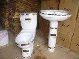 Хозяйственная уборная 839 моет вниз двухкусочный керамический туалет