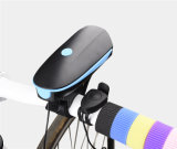 USB Electric Horn Quick Release Ciclismo Lâmpada frontal USB Rechargeable Bike Light