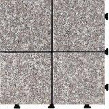 Vloer van de Tuin van de Tegel Decking DIY van de Steen van de Aard van het graniet de Openlucht Met elkaar verbindende met PE Basis