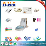 Tag transparentes redondos da moeda do Lf RFID da voz passiva com adesivos