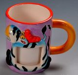 Vente en gros Funny Design Cartoon 3D Painted Ceramica Mug for Children's Gift