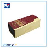 Boîte de empaquetage faite sur commande à vin de qualité avec le papier de fantaisie de luxe