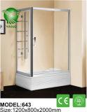 最も新しいドイツ安全ガラスの滑走のシャワー機構の浴室デザイン