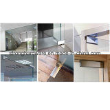 Encaixe de vidro inoxidável da correção de programa do fechamento de porta de Stee
