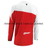 Motocicleta do t-shirt da equitação através dos campos de cor vermelha que compete Jersey (MAT59)