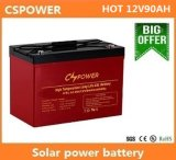 батарея геля цикла 12V 90ah глубокая для солнечного хранения