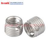 Inserção interna Self-Tapping da linha do aço inoxidável