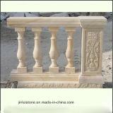 صنع وفقا لطلب الزّبون أبيض طبيعيّة صوان حجارة عمود درابزين لأنّ داخليّة خارجيّ درابزين زخرفة