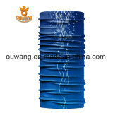 La sublimation estampée conçoivent le Bandana en fonction du client de sports de bleu