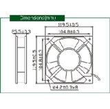 Axialer Ventilator Input Wechselstrom-220V für Bildschirmanzeige