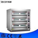 Industrieel 3 Dek 9 Baksel van het Brood van de Bakkerij van de Oven van Dienbladen het Elektrische