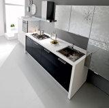 Armadi da cucina lucidi del MDF di rivestimento della lacca della mobilia della cucina alti