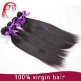 Prolonge 100% droite en soie brésilienne non transformée de cheveux humains de Vierge