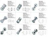 Accessoires de douche de Frameless pour l'acier inoxydable, traitements de porte de salle de bains de Cuprum, chrome/satin