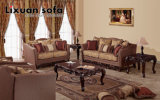 Presidenza americana della sede di amore dell'oggetto d'antiquariato del sofà del tessuto & insieme classico della Tabella