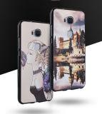 Caixa colorida personalizada do telefone de pilha da impressão TPU do teste padrão 3D para a honra 8 V8 de Huawei