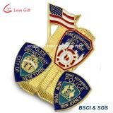 주문 도매 금속 사기질 경찰 접어젖힌 옷깃 Pin