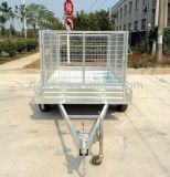 Box Utility Trailer with Motor