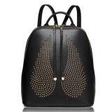 ファッション・デザイナーの翼によって散りばめられる革バックパック旅行バッグレディー袋Emg4869