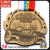 Медаль спорта медали прямой связи с розничной торговлей фабрики изготовленный на заказ закручивая