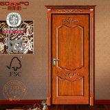 Bois solide d'oscillation à la maison faite sur commande/porte en bois de bois de construction (GSP2-048)