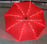 Ombrello del regalo dei 19 capretti di pollice con l'indicatore luminoso del LED sulle nervature