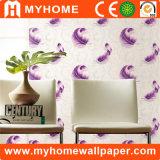 Papel de parede 3D de bambu Washable do PVC para a decoração Home