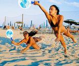 波の標準的なビーチボールのテニスの浜、裏庭、庭浜ラケットのために大きい木のかいゲーム
