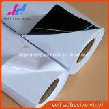 vinil autoadesivo cinzento/branco de 80mic em Rolls para a impressão