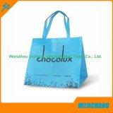 Saco de compra não tecido relativo à promoção da cópia de cor cheia