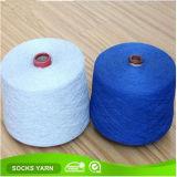 Hilado mezclado algodón óptico del blanco OE de Ne12s para el calcetín que hace punto