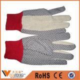 중국 6개 Oz 능직물 면에 의하여 뜨개질을 하는 싼 PVC에 의하여 점을 찍는 일 장갑