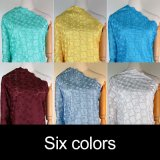 Tela blanca del cordón de la materia textil de algodón del nuevo diseño de la manera